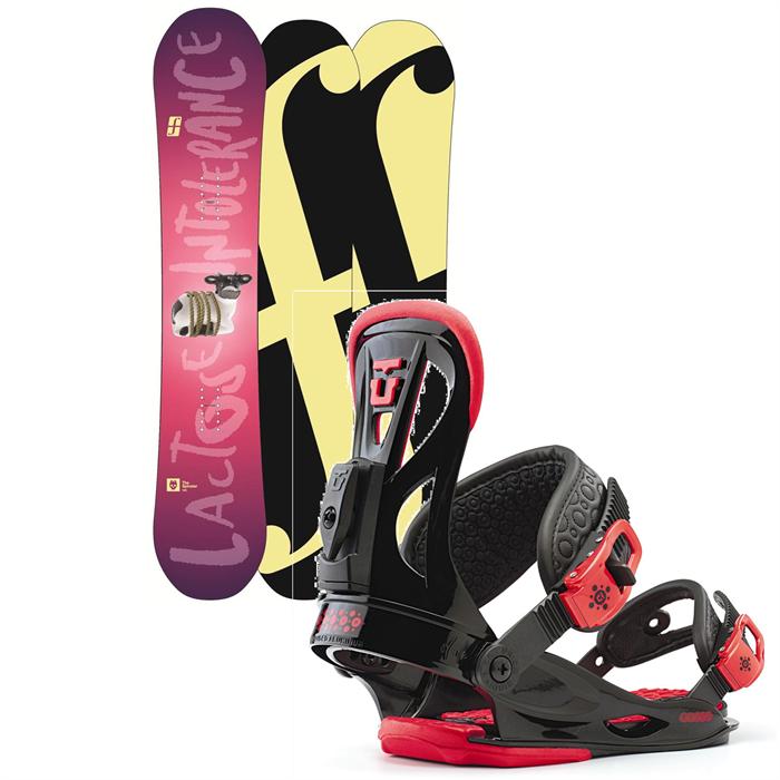 Forum - Spinster Snowboard + Union Flite Lady Bindings - Women's 2013