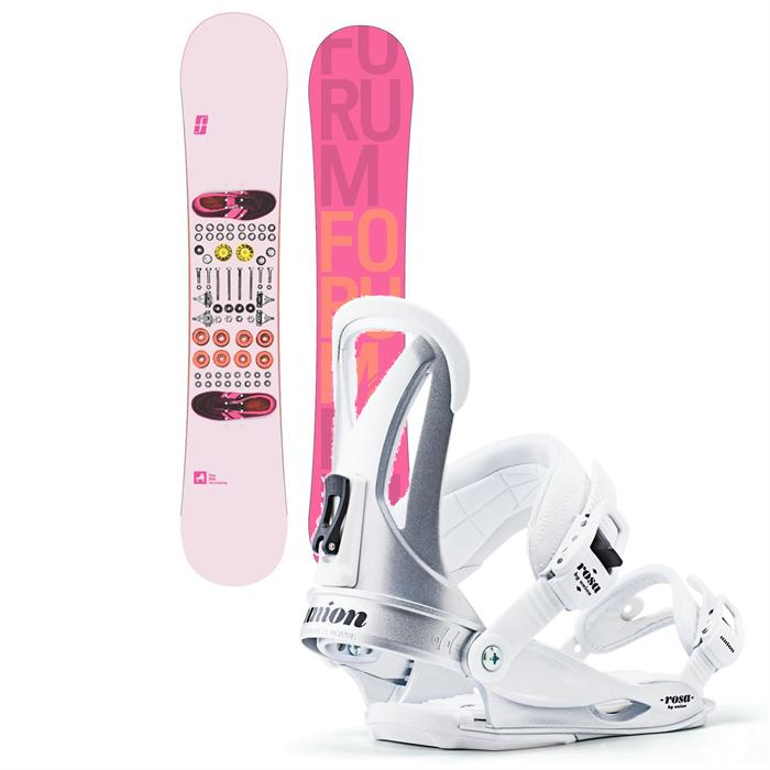 Forum - Star Snowboard + Union Rosa Bindings - Women's 2013