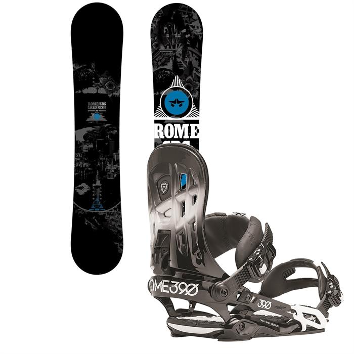 Rome - Garage Rocker Snowboard + Rome 390 Snowboard Bindings 2014