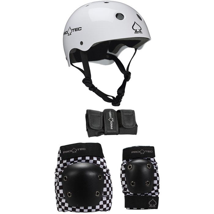 Pro-Tec - Classic Skateboard Helmet + Pro-Tec Street Gear Junior Skateboard Pads 3-Pack - Big Kids'