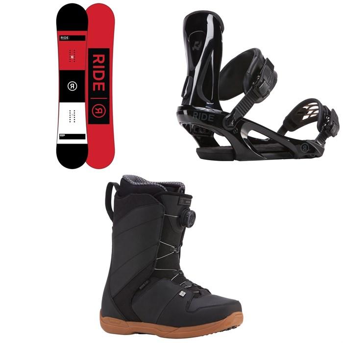 Ride - Agenda Snowboard + Ride KX Snowboard Bindings + Ride Anthem Boa Coiler Snowboard Boots 2018