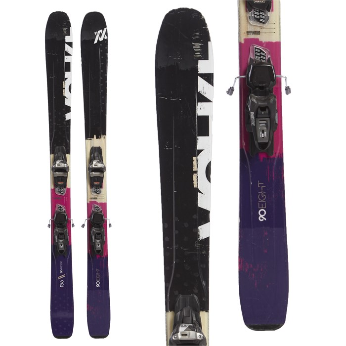Volkl 90Eight W Skis + Marker Squire Demo Bindings