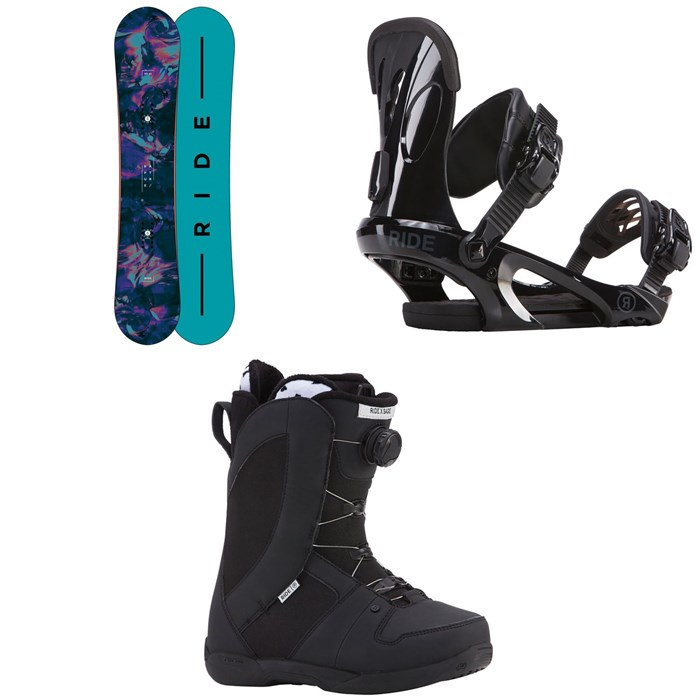 Ride - Rapture Snowboard - Women's + Ride LXH Snowboard Bindings - Women's + Ride Sage Snowboard Boots - Women's 2018