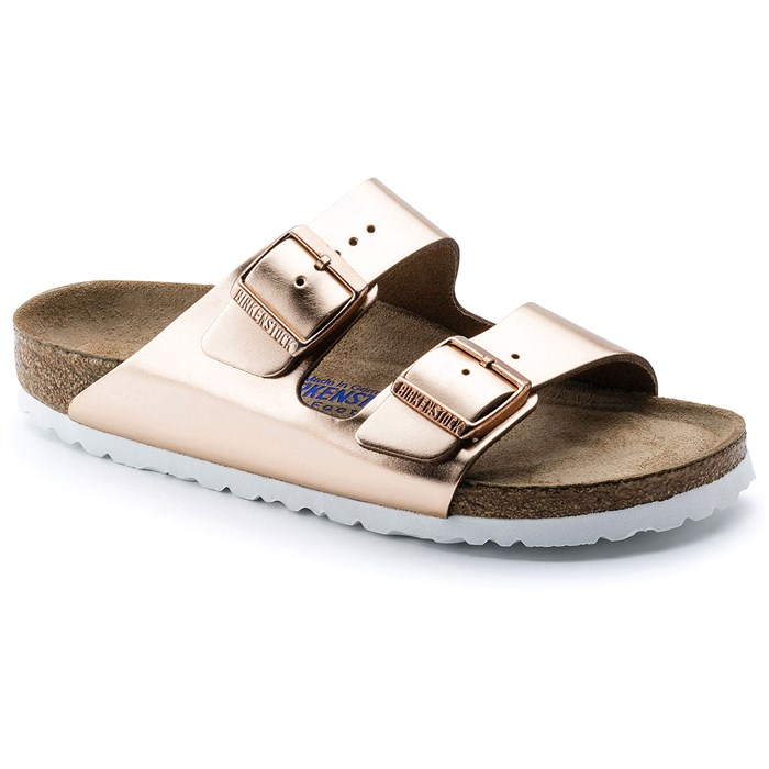 Birkenstock - Arizona Leather Soft Footbed Sandals - Women's