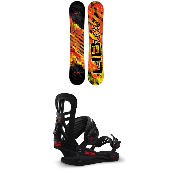Lib Tech - Skate Banana BTX Snowboard + Union T-100 Snowboard Bindings 2017