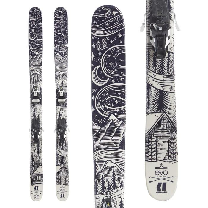 Armada TST EvoAIR Skis + Salomon STH2 13 WTR Ski Bindings