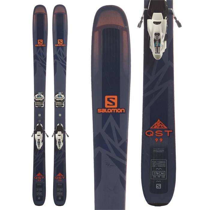 Salomon QST 99 Skis + Marker Griffon 13 ID Ski Bindings