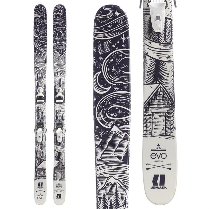 Armada TST EvoAIR Skis + Look Pivot 18 Ski Bindings 2017