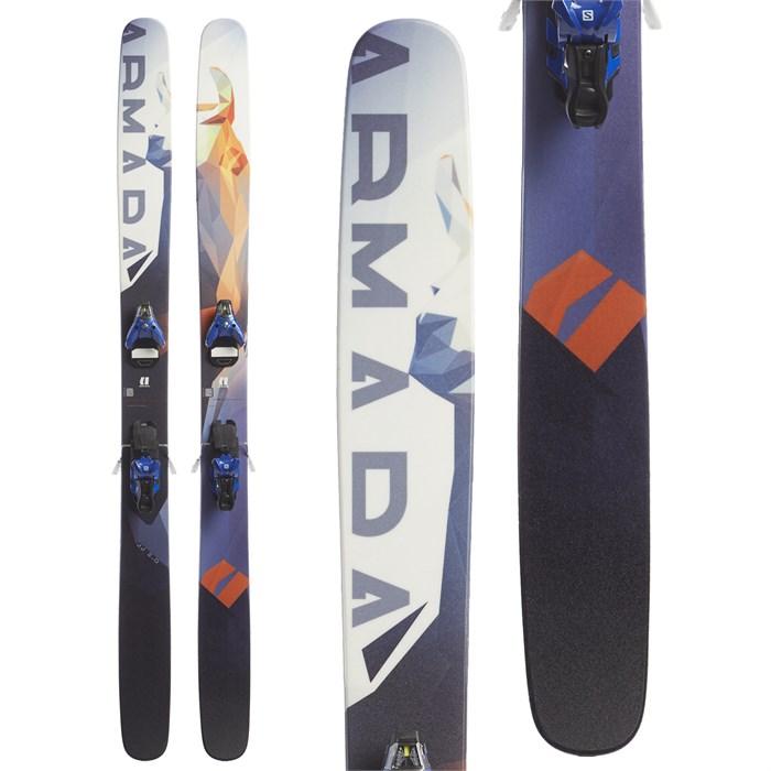Armada JJ 2.0 Skis + Salomon STH2 16 WTR Ski Bindings 2017