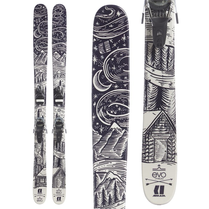 Armada TST EvoAIR Skis + Look Pivot 12 Dual WTR Ski