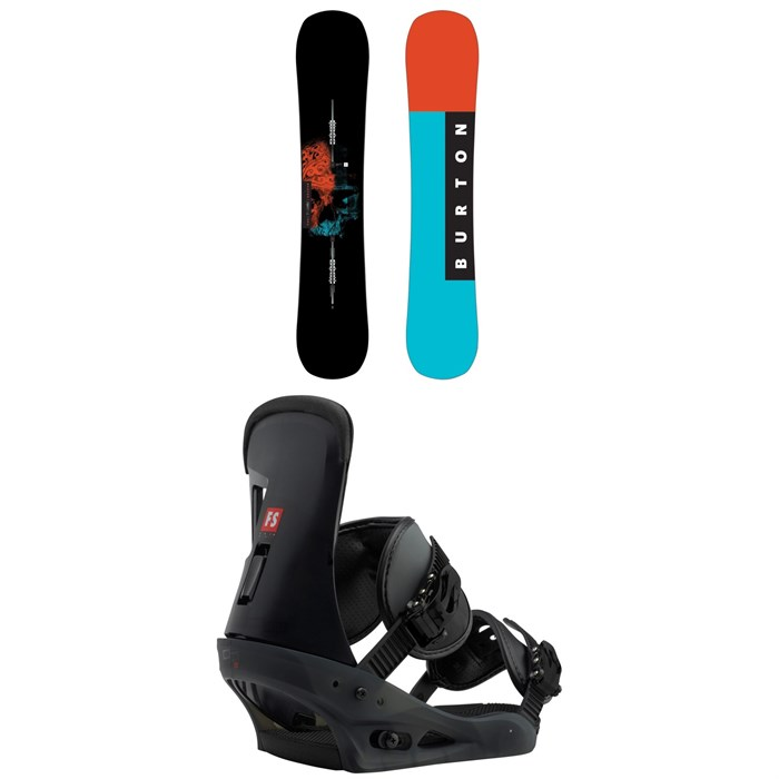 Burton - Instigator Snowboard 2018 + Burton Freestyle Snowboard Bindings 2019