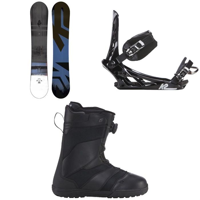K2 - Raygun Snowboard + K2 Indy Snowboard Bindings + K2 Raider Snowboard Boots 2018