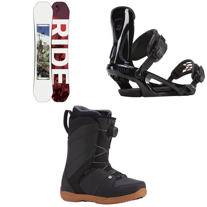 Ride - Kink Snowboard + Ride KX Snowboard Bindings + Ride Anthem Boa Coiler Snowboard Boots 2018