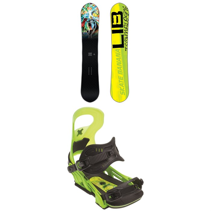 Lib Tech - Skate Banana BTX Snowboard + Bent Metal Logic Snowboard Bindings 2018