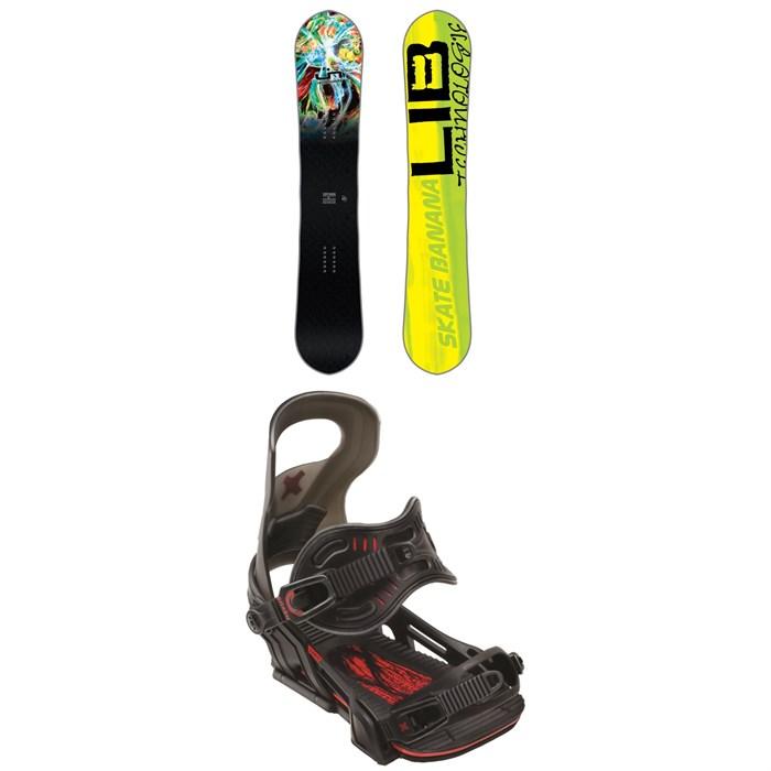 Lib Tech - Skate Banana BTX Snowboard + Bent Metal Logic Snowboard Bindings 2018