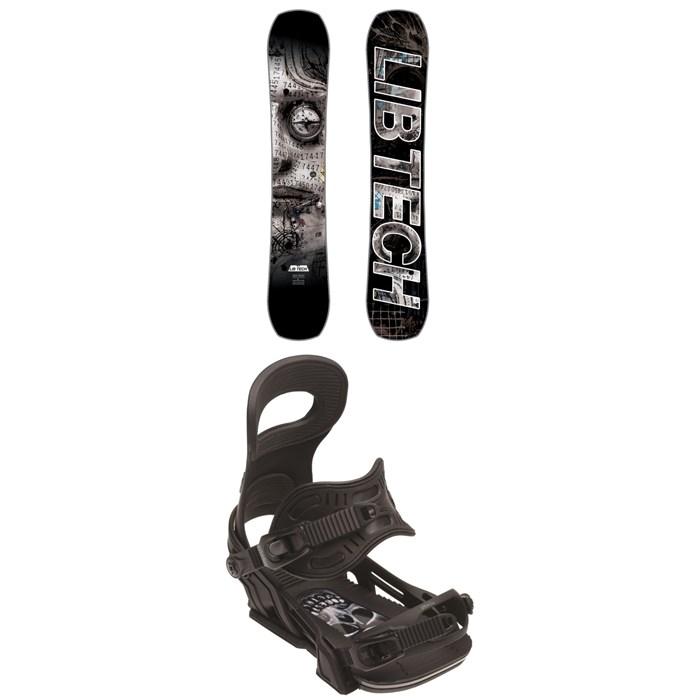 Lib Tech - Box Knife C3 Snowboard + Bent Metal Transfer Snowboard Bindings 2018