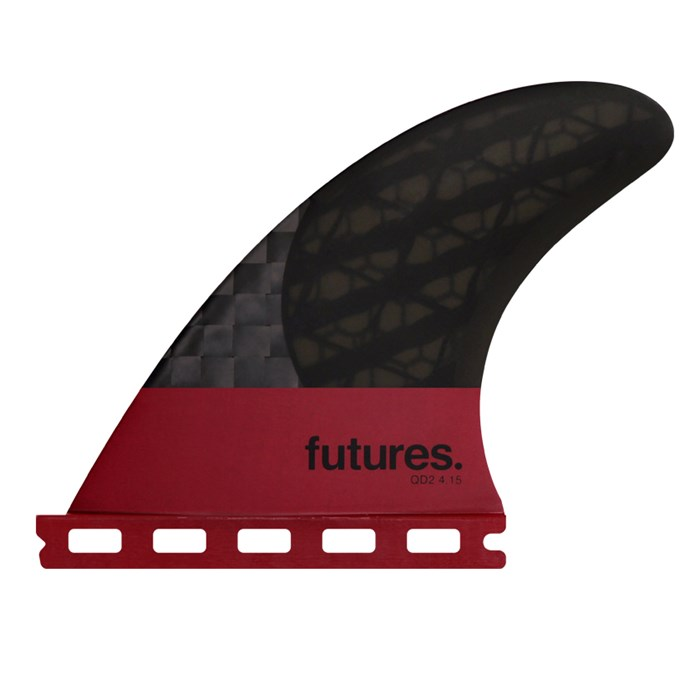 Futures - QD2 4.15 Blackstix 3.0 Quad Rear Fin Set