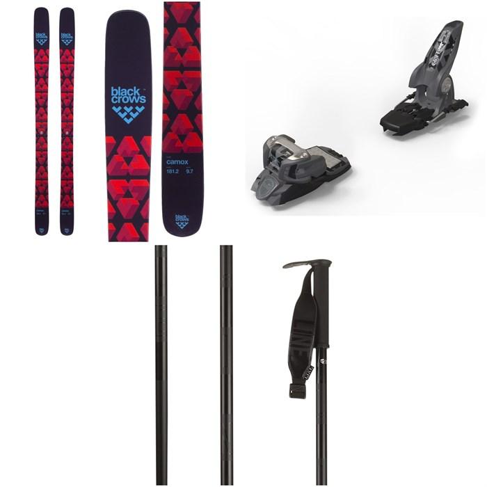 Black Crows - Camox Skis + Marker Griffon Ski Bindings + Line Skis Pin Ski Poles