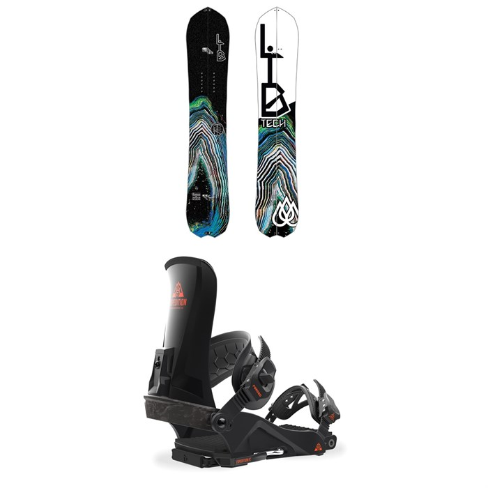 Lib Tech - T. Rice Gold Member FP C2X Splitboard 2018 + Union Expedition FC Snowboard Bindings 2018