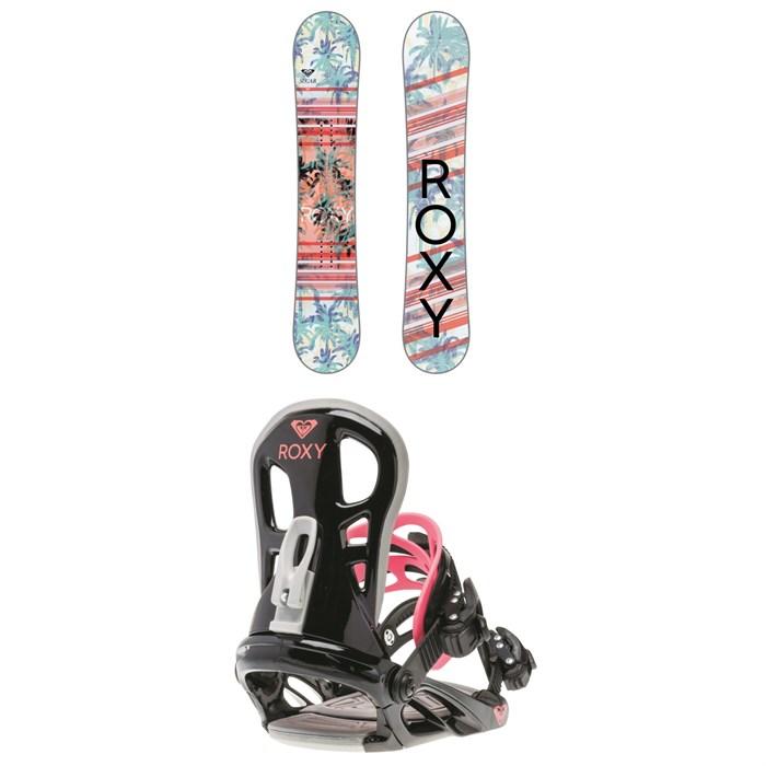 Roxy - Sugar Banana Snowboard - Women's 2018 + Roxy Classic Snowboard Bindings - Women's 2018