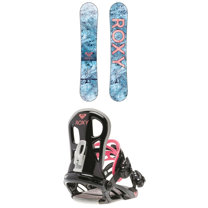 Roxy - Ally Banana Snowboard - Women's + Roxy Classic Snowboard Bindings - Women's 2018
