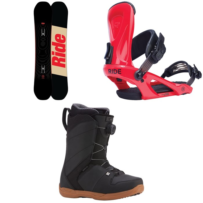 Ride - Machete Snowboard + Ride KX Snowboard Bindings + Ride Anthem Boa Coiler Snowboard Boots 2018