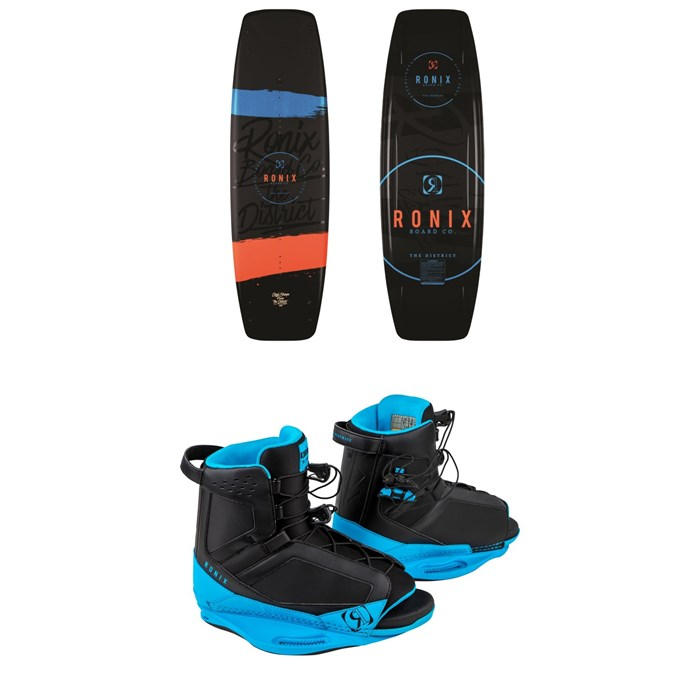 Ronix - District Wakeboard + District Wakeboard Bindings 2018