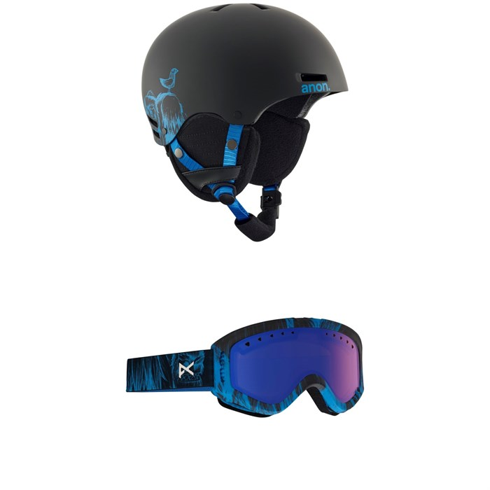 Anon - Rime Helmet - Big Kids' +  Anon Tracker Goggles - Kids'