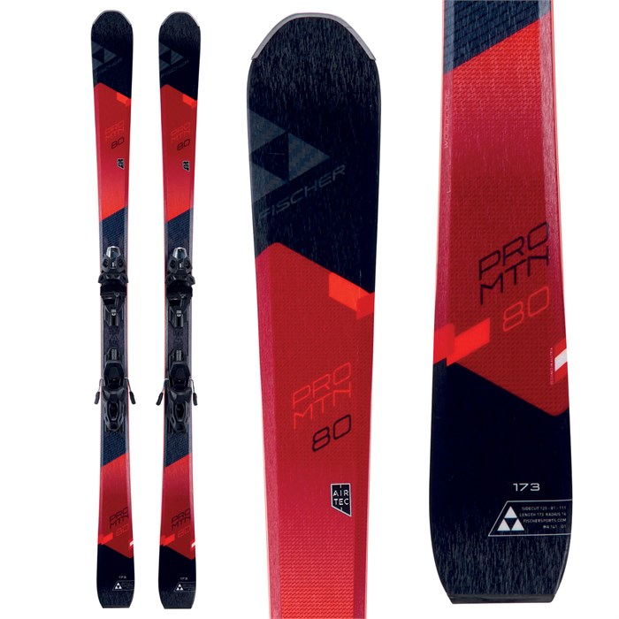 Fischer Pro MTN 80 Skis + MBS 11 Powerrail Bindings 2018