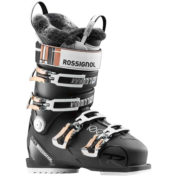 rossignol pure pro 100 ski boots women 39 s 2018 evo. Black Bedroom Furniture Sets. Home Design Ideas