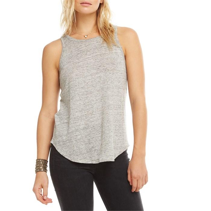 Chaser - Linen Jersey Scoop Back Tank Top - Women's