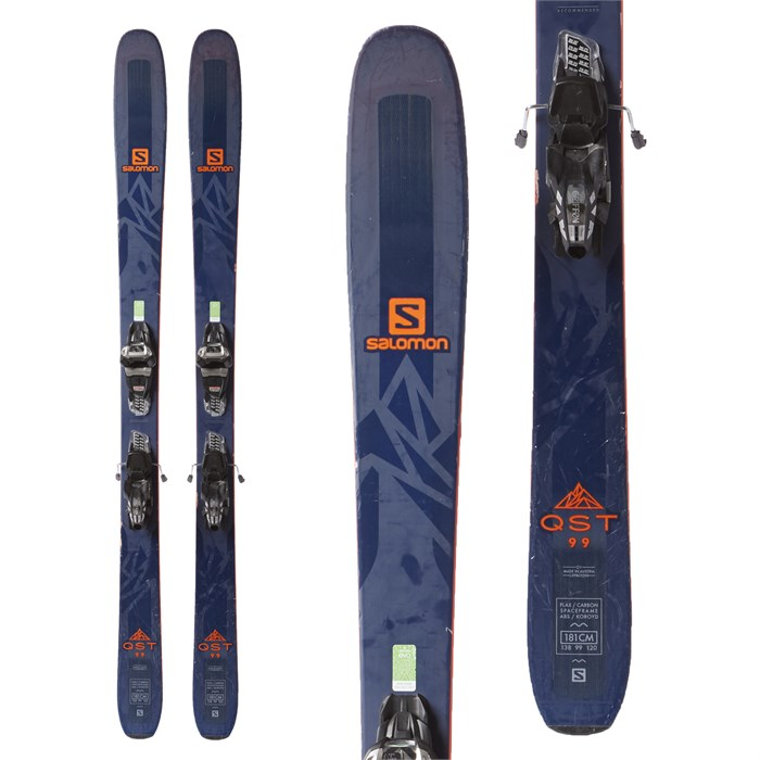 Salomon QST 99 Skis + Marker Griffon Demo Bindings 2018