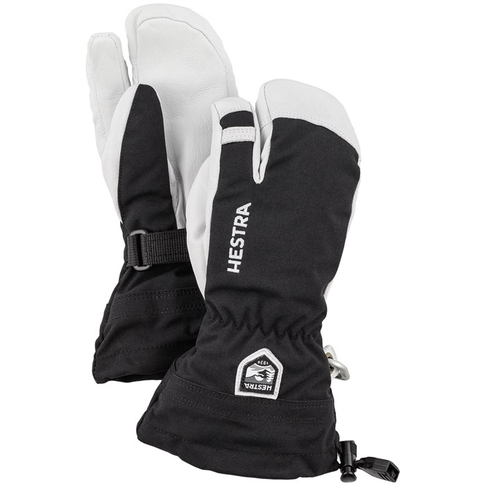 Hestra - Army Leather Heli Ski Jr. 3-Finger Mittens - Big Kids'