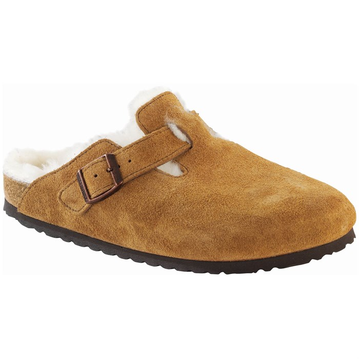 Birkenstock - Boston Shearling Suede Clogs - Women's