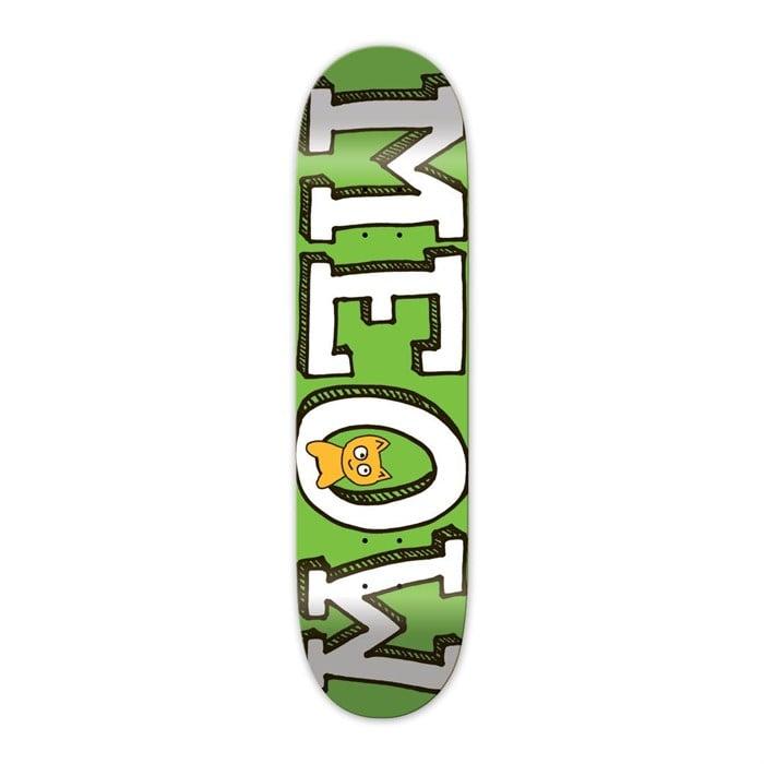 Meow - Logo Green 8.25 Skateboard Deck