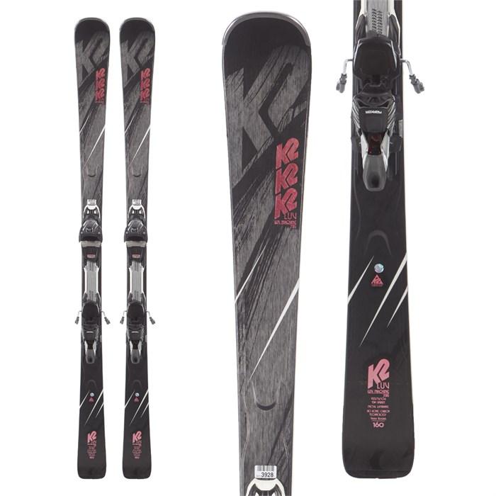K2 - Luv Machine 72 Ti Skis + ERC 11 TCx Light Bindings - Women's 2019 - Used