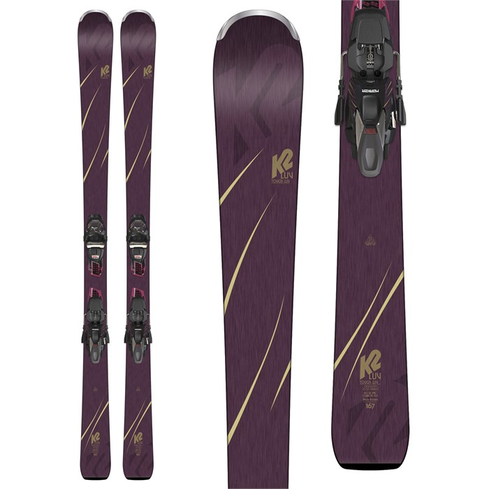 K2 - Tough Luv Skis + ERC 11 TCX Light Bindings - Women's 2019 - Used