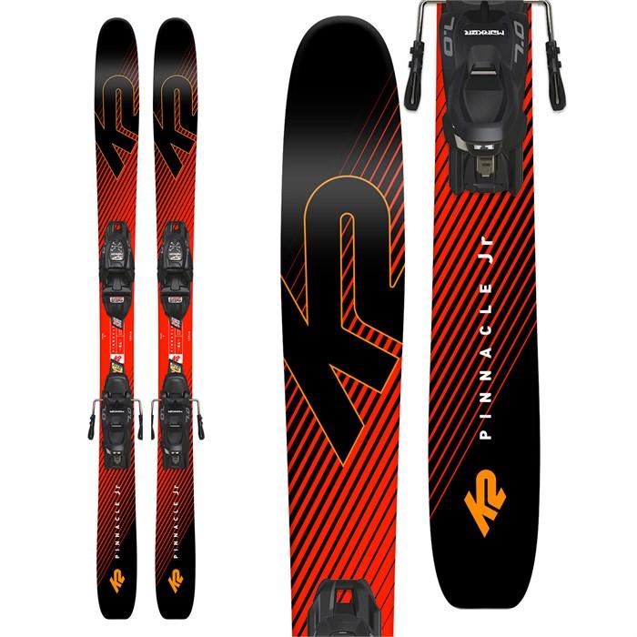 K2 - Pinnacle Jr Skis + Marker FDT 7.0 Bindings - Boys' 2019 - Used