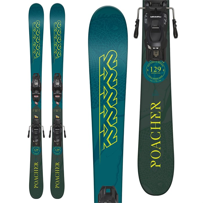 K2 - Poacher Jr Skis + Marker FDT 4.5 Bindings - Little Boys' 2019