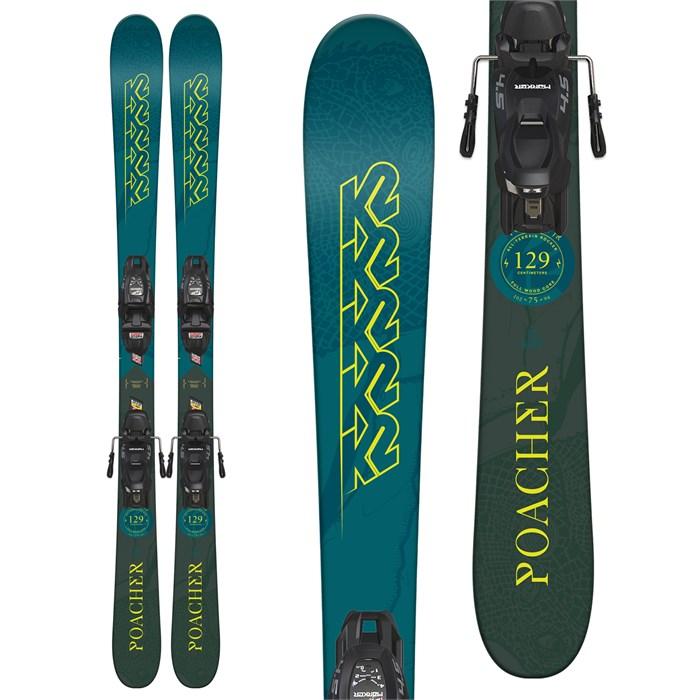 K2 Poacher Jr Skis + Marker FDT 7.0 Bindings