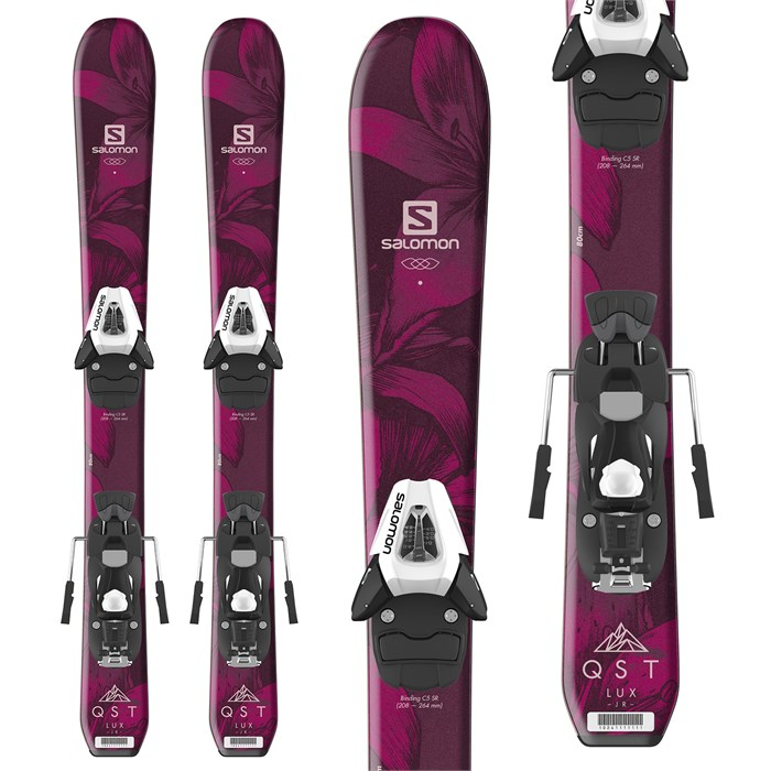 Salomon - QST Lux Jr Skis XS + C5 SR Bindings - Little Girls' 2019