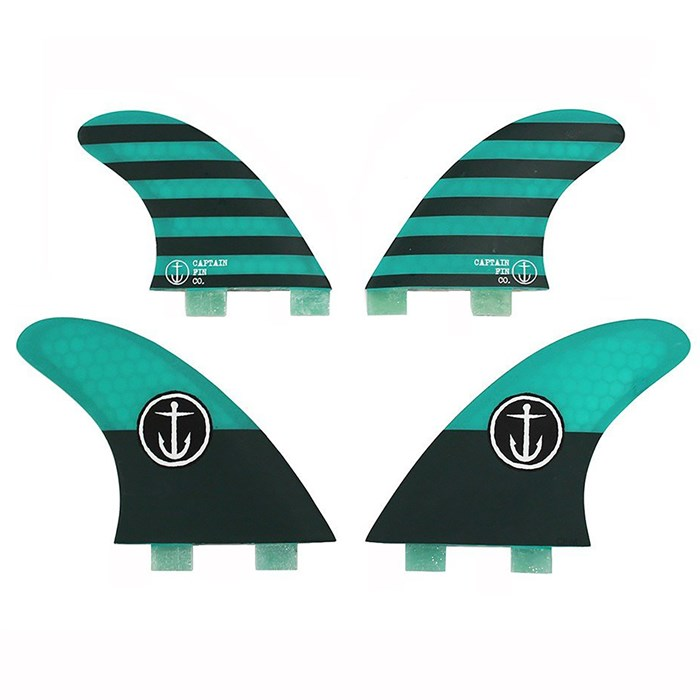 Captain Fin - CF Medium Twin Tab Quad Fin Set