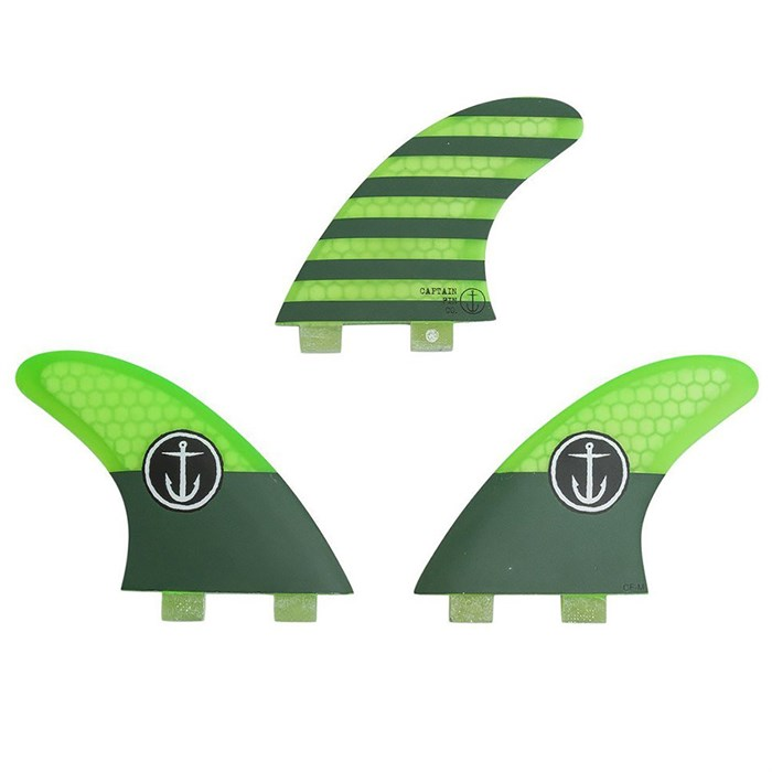 Captain Fin - CF Medium Twin Tab Tri Fin Set