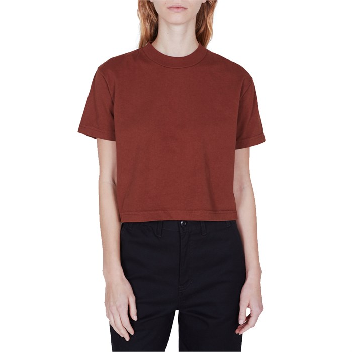 Obey Clothing - Mock Neck Cropped T-Shirt - Women's