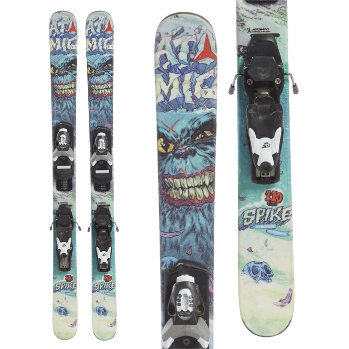 Atomic - Spike Jr. Skis + Look T4 Bindings - Boys' 2014 - Used