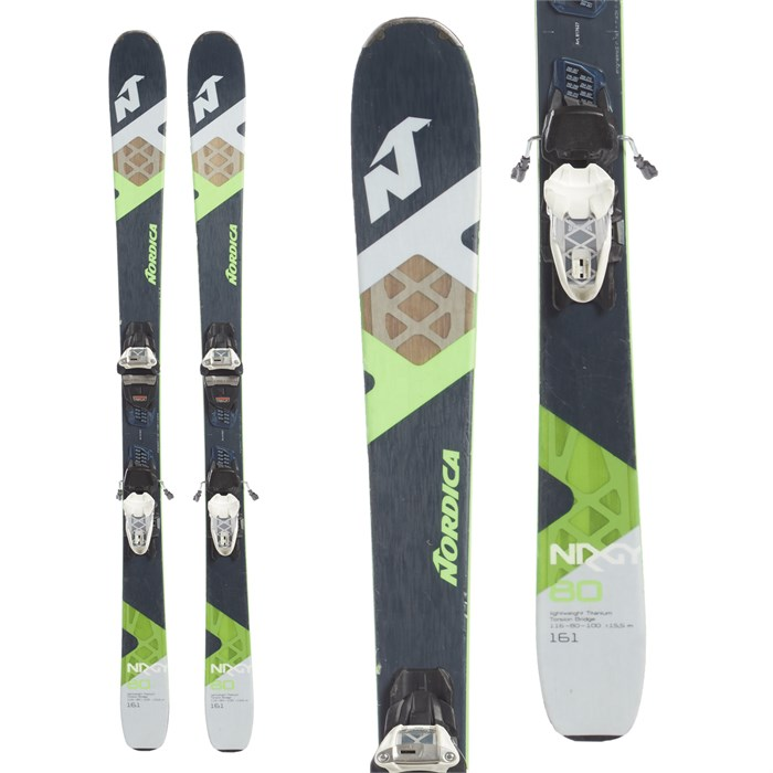 Nordica - NRGy 80 FDT Skis + Marker Squire Compact 11 Bindings 2017 - Used