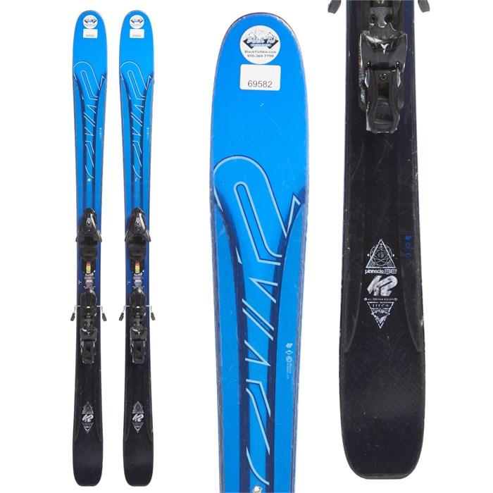 K2 - Pinnacle 88 Skis + Salomon Z12 Demo Bindings 2017 - Used