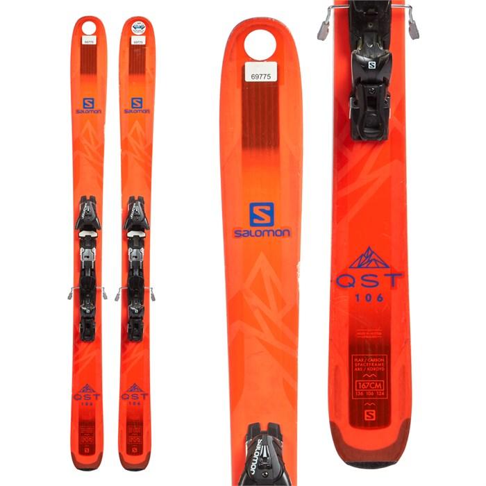 Salomon QST 106 Skis + Salomon Z12 Speed Bindings 2018