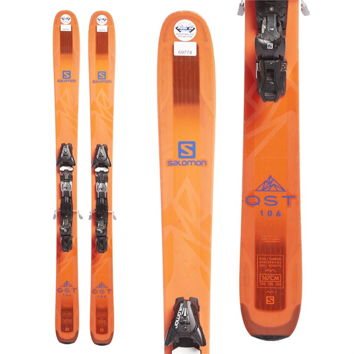 Salomon - QST 106 Skis + Salomon Z12 Speed Bindings 2018 - Used