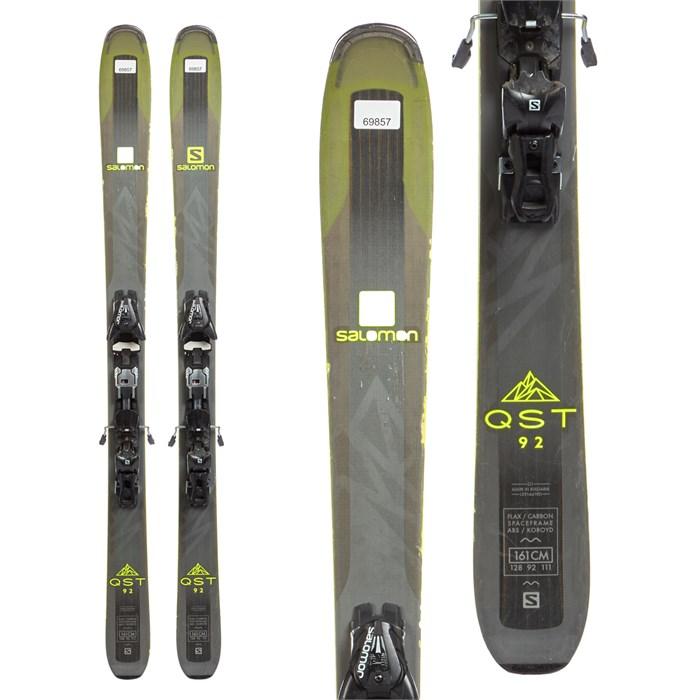 Salomon QST 92 Skis + Salomon Z12 Speed Bindings 2018 Used